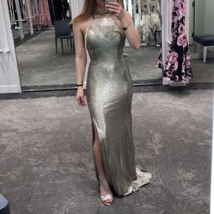 Blondie Nites Gold Prom Dress (New With Tags)